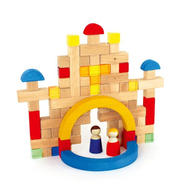 Pluskonstruktion im Holzkasten von Bauspiel
