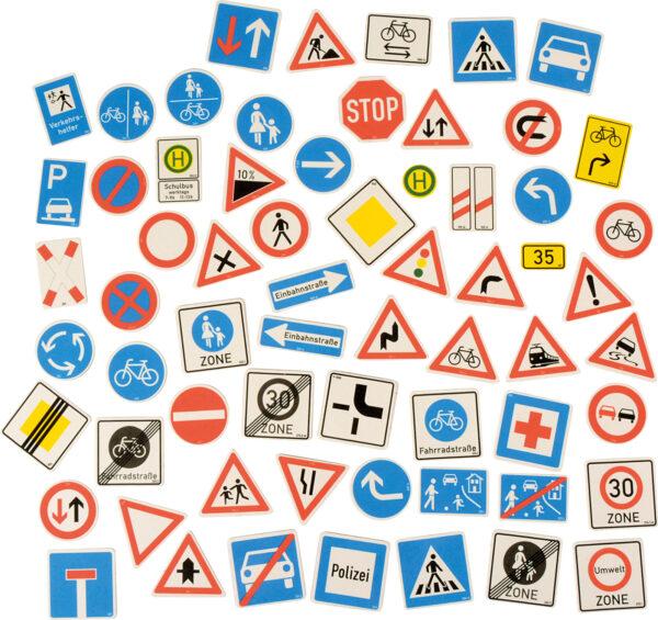 Magnetische Verkehrszeichen für Kinder