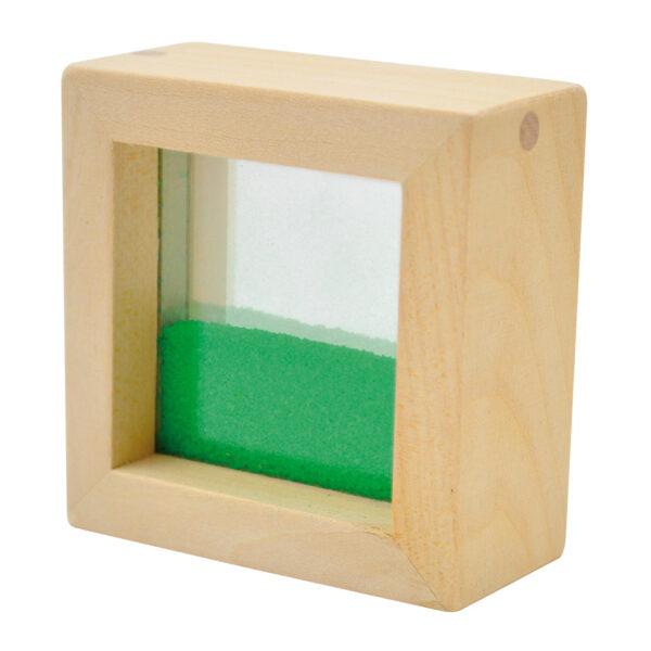 Sensorikbaustein gefüllt mit grünem Sand