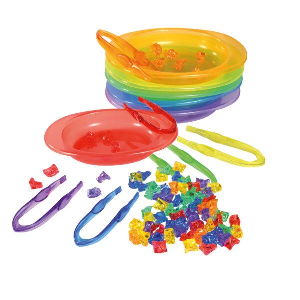 Sortierschalen Set transparent Lernspiel für Kinder