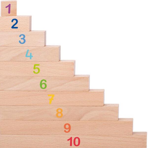 Rechenstäbe mit Zahlen zum Zählen und Rechnen lernen