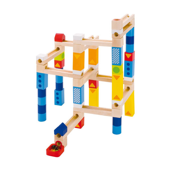 Murmelbahn Bausatz aus Holz für Kinder in Kindergarten und Schule