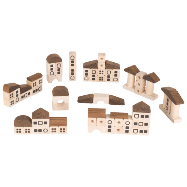 Holz- Bausteine Stadt für Kinder ab dem Krippenalter