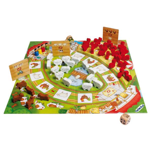 Tischspiel für Kinder Lustige Bauernhoftiere