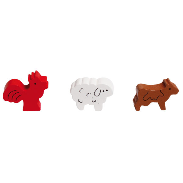 Figuren zum Tischspiel für Kinder Lustige Bauernhoftiere