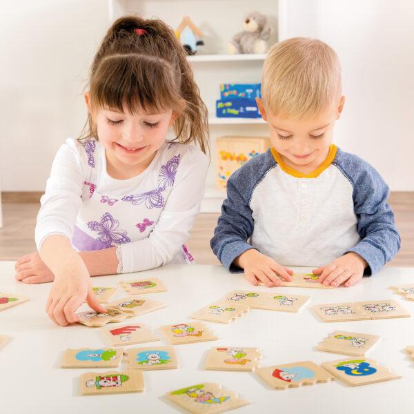 Kidner spielen mit Cognito Räumlichkeiten Lernspiel für Kinder in Kindergarten und Schulalter