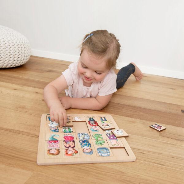 Match & Mix Fantasie Puzzle aus Holz