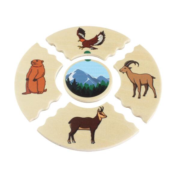 Lernpuzzle Nawito Tierwelten