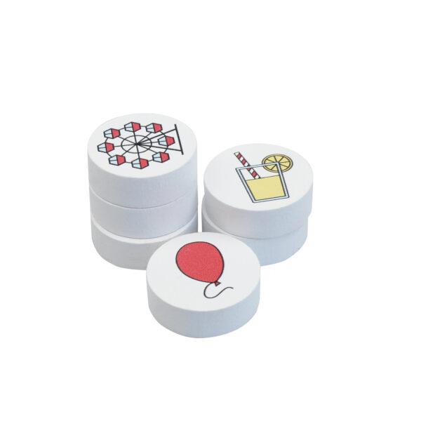Spielsteine zum Tischspiel Vergnügungspark