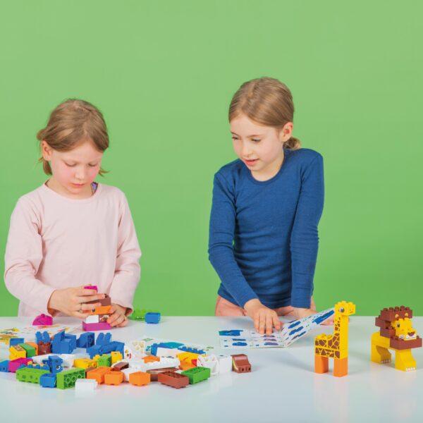 Kinder bauen mit Biobuddi Nutz- & Wildtiere Duplo® kompatibel