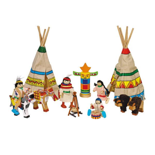 Biegepuppen Indianer für das Rollenspiel für KInder