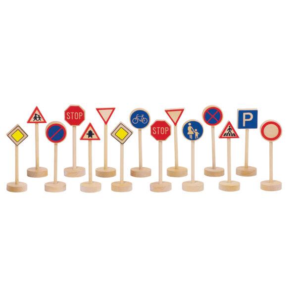 Verkehrszeichen aus Holz