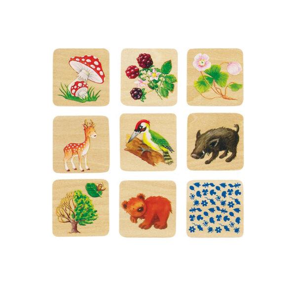Memospiel Waldleben Tischspiel und Lernspiel für Kinder