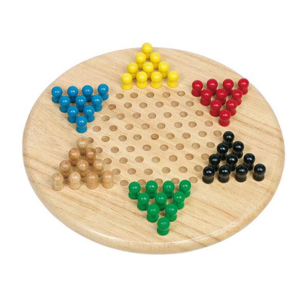 Halma Tischspiel aus Holz für Kinder in Kindergarten- und Schulalter