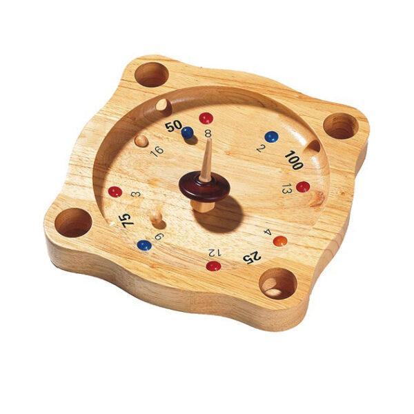 Tiroler Roulette Tischspiel aus Holz für Kinder