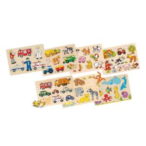 Steckpuzzle aus Holz 7er Set