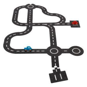 Spielstraße mit 2 Fahrzeugen