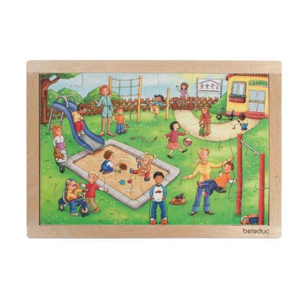 Rahmenpuzzle Kindergarten