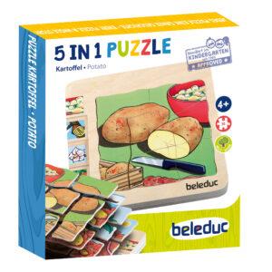 Lagenpuzzle KARTOFFEL Holzpuzzle für Kinder