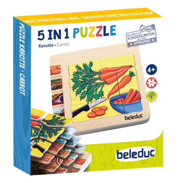 Lagenpuzzle KAROTTE Holzpuzzle für Kinder