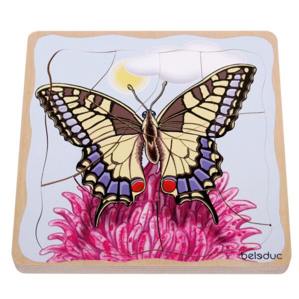 Lagenpuzzle Schmetterling Holzpuzzle für Kinder