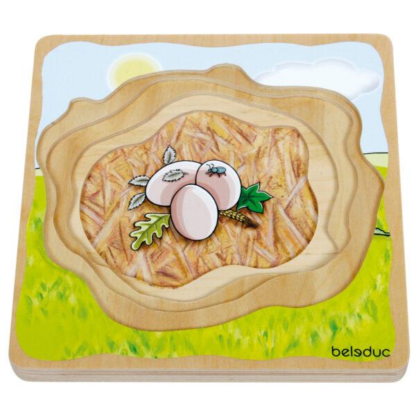 Lagenpuzzle Ente Holzpuzzle für Kinder