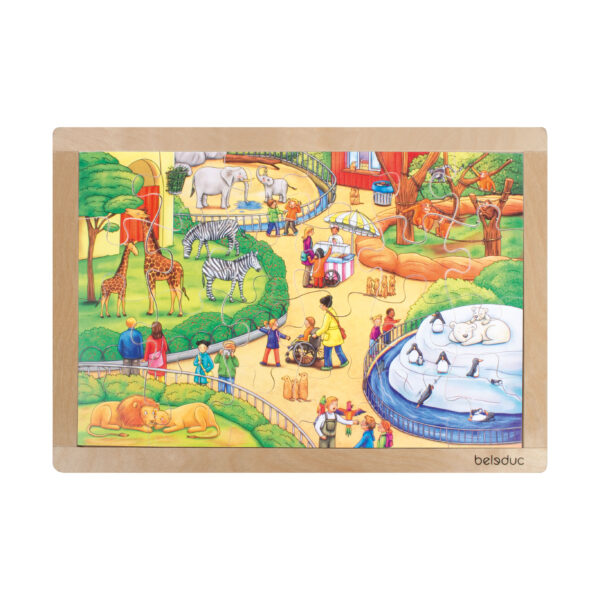 Rahmenpuzzle Tierpark