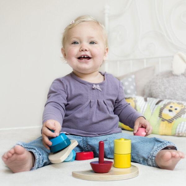 Stapelspass Stapelspiel aus Holz für Kinder