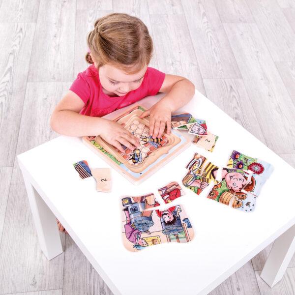 Lagenpuzzle BIENE Holzpuzzle für Kinder
