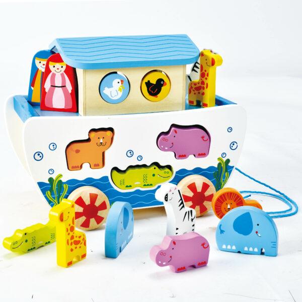 Arche Noah aus Holz für Kinder in Krippen- und Kindergartenalter