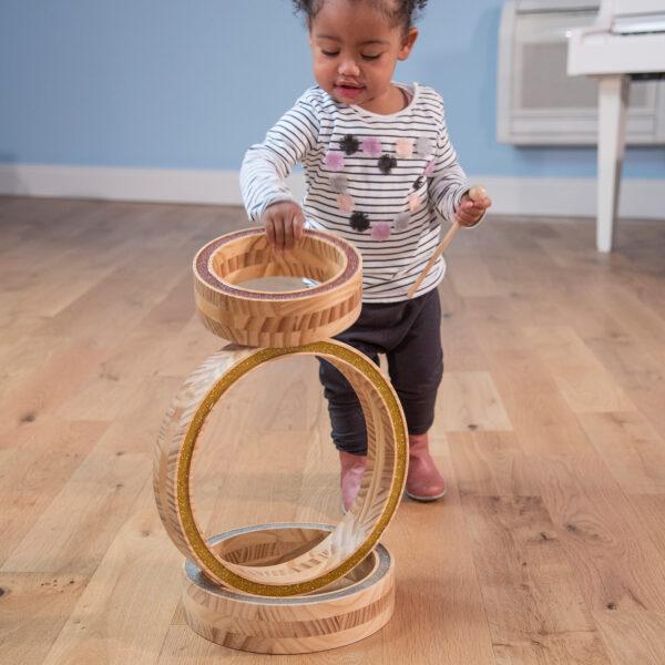 Holz Stapelringe Set für Kinder im Krippen- und Kindergartenalter