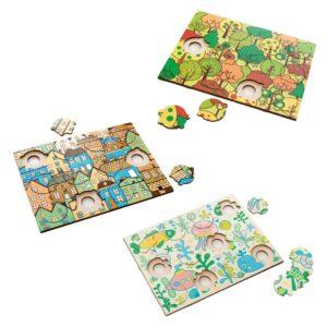 Formen Puzzles aus Holz