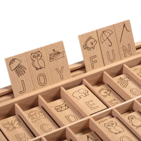 Rechtschreib- Box Englisch Buchstaben Lernspiel für Kinder