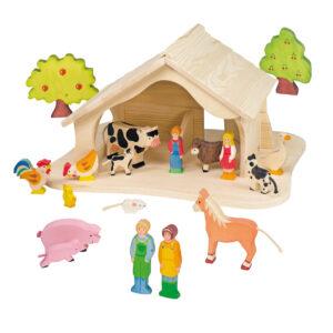 Holzstall für Kinder in Kindergarten- und Schulalter