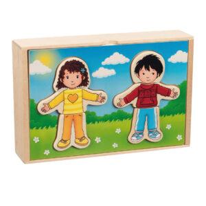 Anziehpuppen- Puzzle aus Holz für Kinder