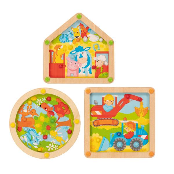 Geduldsspiel 3er Set für Kinder im Kindergartenalter