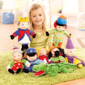 Kasperl-Puppenset 8-teilig für das Rollenspiel