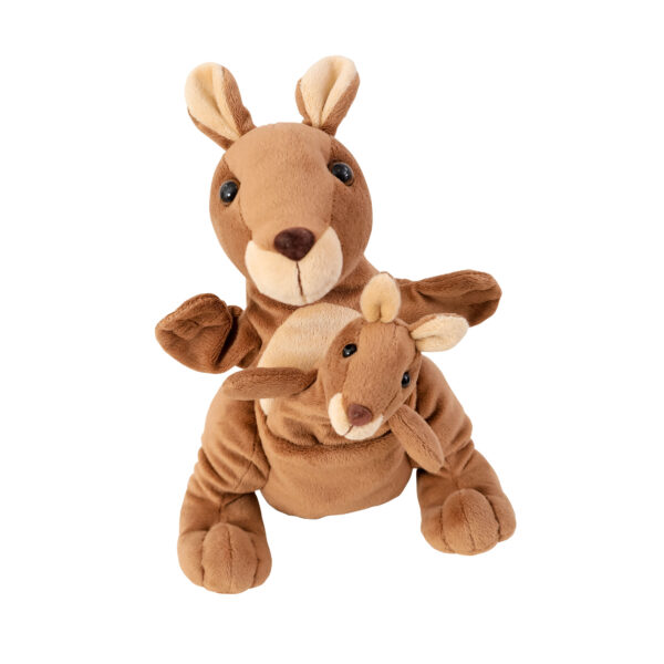 Mutter Kind Handpuppe Känguru