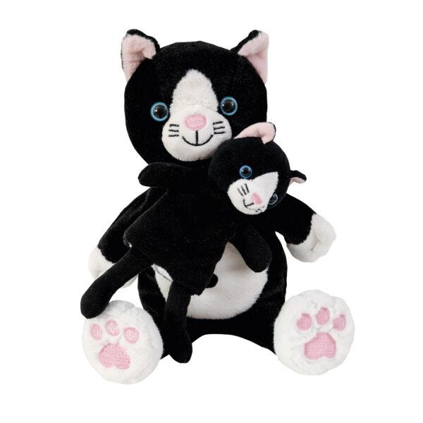 Mutter Kind Handpuppe Katze